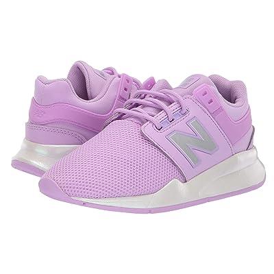 New Balance Kids PS247v2 (Little Kid) (Dark Violet/White) Girls Shoes