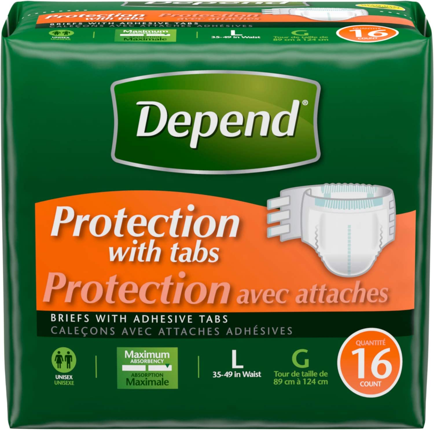 Depend Maximum Protection Brief With Easygrip Tapes Count Luxury Over item handling ☆ 16