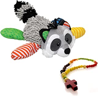 Lil Prayer Buddy Ralphie the Raccoon and My First Rosary 2 Pc Set