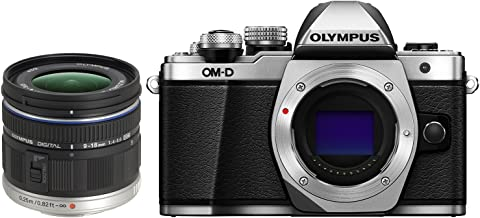 Olympus OM-D E-M10 Mark II Mirrorless Digital Camera (Silver) V207050SU000 + Olympus M ED 9-18mm f/4.0-5.6 Micro Four Third Interchangeable Lens Kit 261503 Camera Bundle