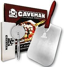 Caveman Products Aluminum Metal Pizza Peel - Folding Wood Handle for Easy Storage - 12