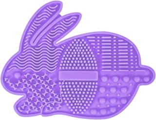 WT-DDJJK Szczotka do czyszczenia, przenośna urocza kreskówka królik szczotka do makijażu mata do czyszczenia przyssawka us...