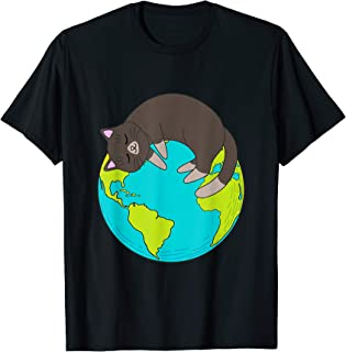 Cat Lying On The Earth Tshirt T-Shirt