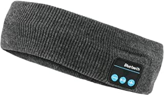 NOBRAND Wireless Bluetooth 5.0 Headband with Headphones Built in Double Knit Removal with Stereo Speaker for Running Skiin...