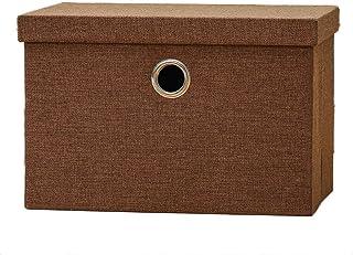 Poubelles de rangement, Cubes de rangement pliables en tissu de coton et de lin avec bacs de rangement et bacs à tiroir - ...