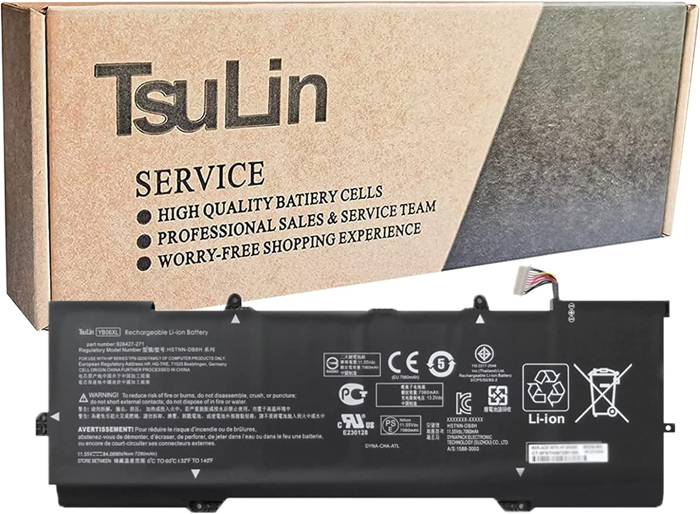 TsuLin YB06XL Max 68% OFF Laptop Battery Compatible Spectre HP 15- X360 with Selling