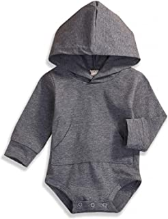 YOUNGER TREE Baby Boys Girls Hoodies Top Bunny Romper Bodysuit Infant Jumpsuits Gray Outfit Christmas Clothes