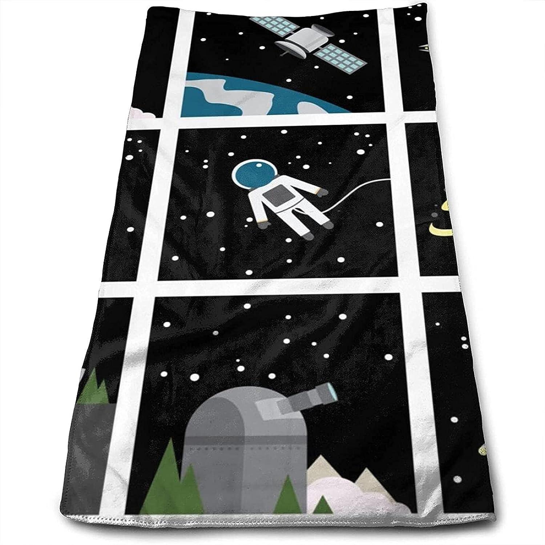 Epushow Space Star Space Star Moon Handkerchief Kitchen Bathroom Handkerchief Soft Polyester Microfiber