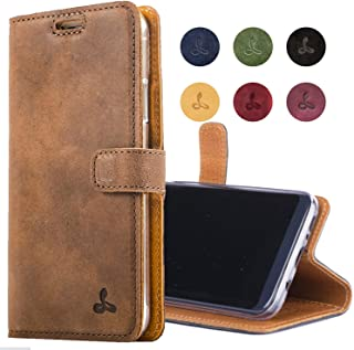 Snakehive Samsung Galaxy S8 Case, Genuine Leather Wallet with Viewing Stand and Card Slots, Flip Cover Gift Boxed and Handmade in Europe for Samsung Galaxy S8 - Brown
