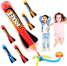 Duckura Jump Rocket Launchers for Kids, Outdoor Play with 5 Foam Rockets, Outside Activities Games Camping Toys, Christmas...