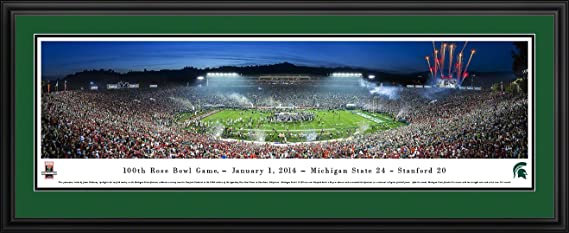 Amazon Com Rose Bowl 2014 Champions Michigan State Blakeway Panoramas College Sports Posters With Deluxe Frame Sports Outdoors
