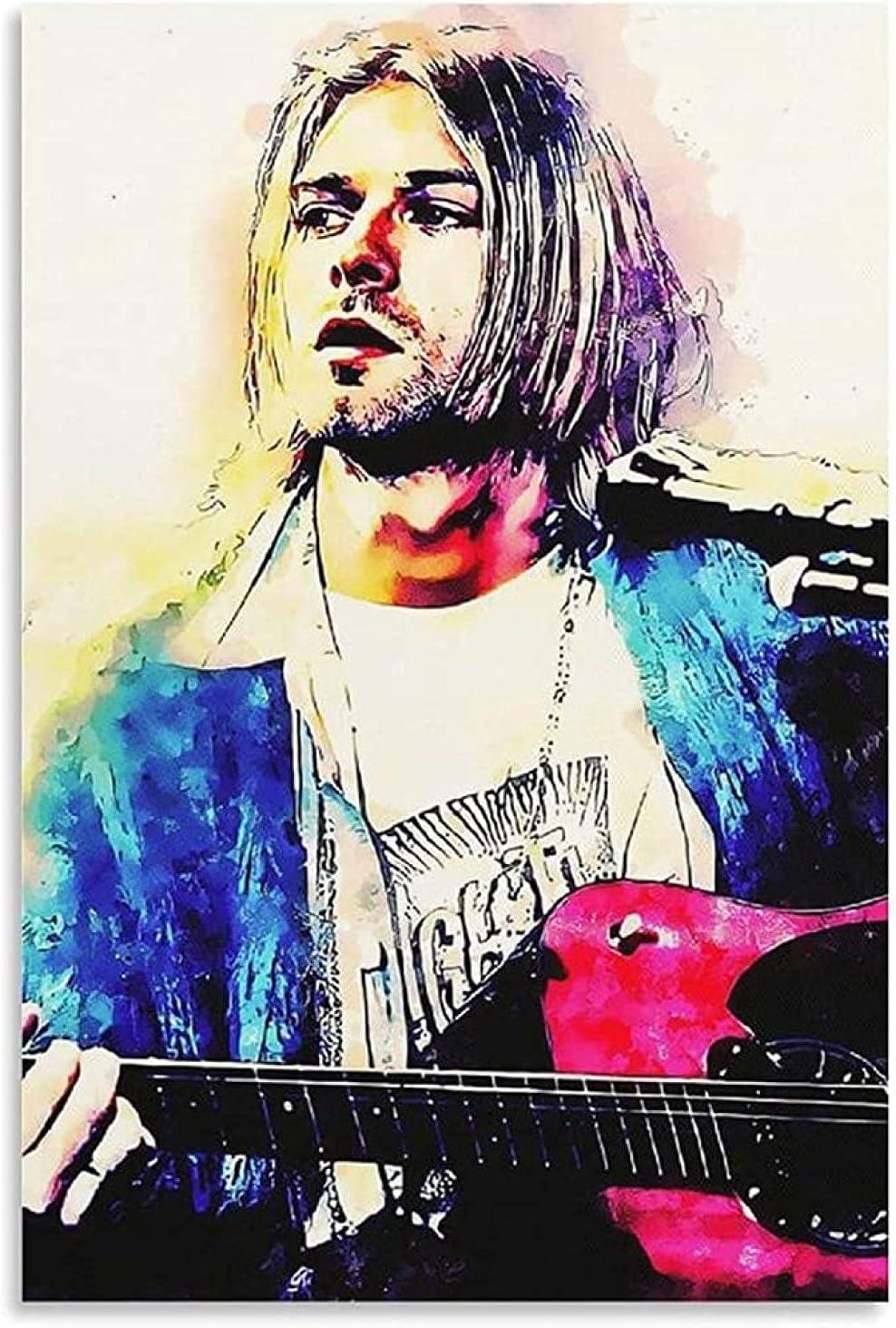 FZSMXH Lienzo Y Arte De Pared PóSter 30x50cm Sin Marco Cobain Guitarrista Cantante música e Imagen impresión Moderna decoración de Dormitorio Familiar