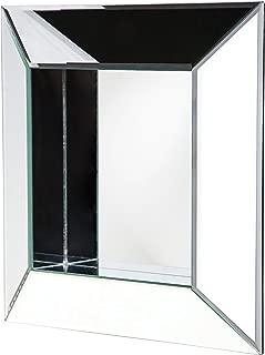 Howard Elliott 11034 Amalfi Contemporary Accent Wall Mirror, Square, Built-In Small Shelf