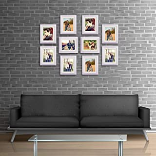 ArtzFolio Wall Photo Frame D546 White 8x10inch;Set of 10 PCS with Mount
