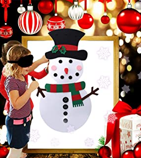 LaVenty Luxury DIY Felt Christmas Tree Set with Ornaments Christmas Snowman with Ornaments Christmas Party Game for Kids Xmas Gifts with Detachable Ornaments Wall Decor