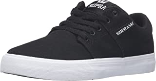 Supra Kids Boy's Stacks Vulc II (Little Kid/Big Kid) Black Canvas Athletic Shoe
