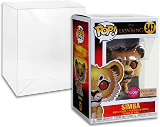 Funko Pop Figure Simba The Lion King 2019 Flocked BoxLunch Exclusive Featuring Golden Groundhog Pop Protector