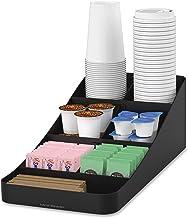 مايند ريدر COMP7-BLK 7 مقصورات بهار قهوة، أكواب، أغطية، سكريات، أدوات تقليب، منظم تخزين، أسود
