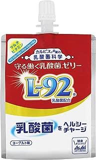 〔飲料〕 アサヒ 守る働く乳酸菌ゼリー 180gパウチ 2ケース (1ケース30本入)(CALPIS)(L-92乳酸菌)(ヨーグルト味)(180ml)アサヒ飲料
