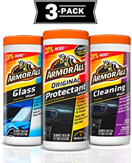 Armor All 18782 Protectant, Glass and Cleaning Wipes, 30 count each - 3 Pack Wipes