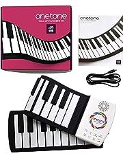 ONETONE ワントーン ロールピアノ 49鍵盤 スピーカー内蔵 充電池駆動 トランスポーズ機能搭載 OTR-49 (日本語マニュアル付属)