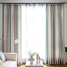 Curtain Simple curtains, modern living room, bedroom, nordic slipstream, 300 x 270 cm (W x H) x 2, B