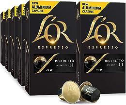 L'OR Espresso Pods, 100 Capsules Ristretto, Single Cup Aluminum Coffee Capsules Compatible with Nespresso Original Machine