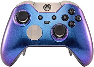 eXtremeRate Custom Design Unique Chameleon Chamillionaire Top Shell Front Housing Replacement Faceplate for Xbox One Elite Controller with Thumbstick Accent Rings