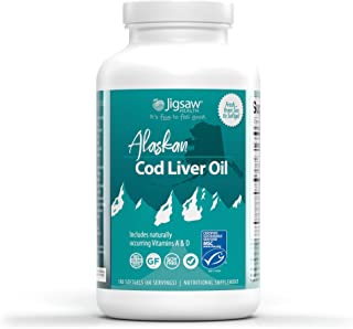 Sponsored Ad - Jigsaw Health Alaskan Cod Liver Oil - Contains Omega-3 Fatty acids, Pro-Resolving Mediators, and Naturally ...