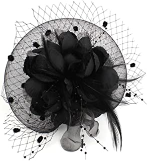 Auranso Derby Netting Mesh Headband Big Flowers Hair Band Women Fascinator Hat