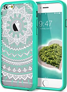 iPhone 6 Plus Case, iPhone 6S Plus Case, SmartLegend Retro Totem Mandala Floral Pattern Hybrid Clear PC Hard Back with TPU Bumper Acrylic Protective Transparent Case for iPhone 6/6S Plus 5.5