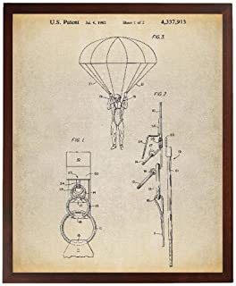 Turnip Designs Parachute 1982 Patent Poster Art Print Skydiving Army Wall Art Combat Soldier Gift TNP197