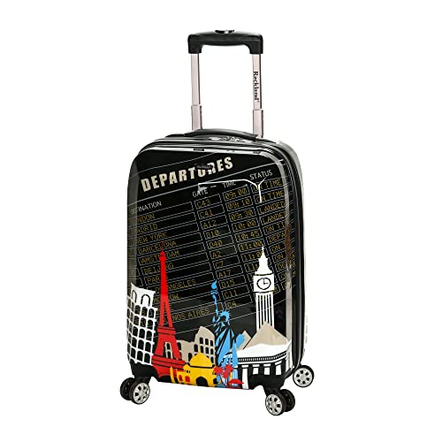 e5118e567 Rockland Luggage 20 Inch Polycarbonate Carry On, Departure, One Size