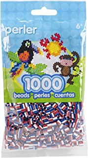 Perler Beads Fuse Beads for Crafts, 1000pcs, Patriotic Red, White, and Blue