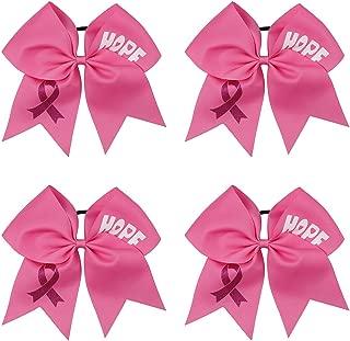 breast cancer hair bows