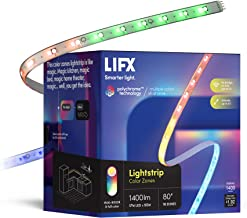 LIFX Lightstrip, 6.6' Starter Kit, Wi-Fi Smart LED Light Strip, Full Color with Polychrome Technology™, No Bridge Require...