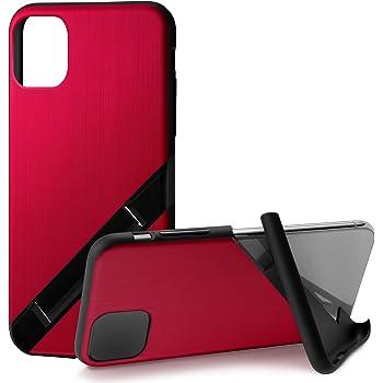 カンピーノ campino iPhone 11 Pro ケース OLE stand スタンド機能 耐衝撃 スリム 動画 Qi ワイヤレス充電対応 ヘアライン レッド 赤 Hairline