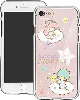 WiLLBee - Funda compatible con iPhone 8 Plus/iPhone 7 Plus Sanrio Cute Border Clear TPU Soft Jelly Cover - Little Twin Sta...