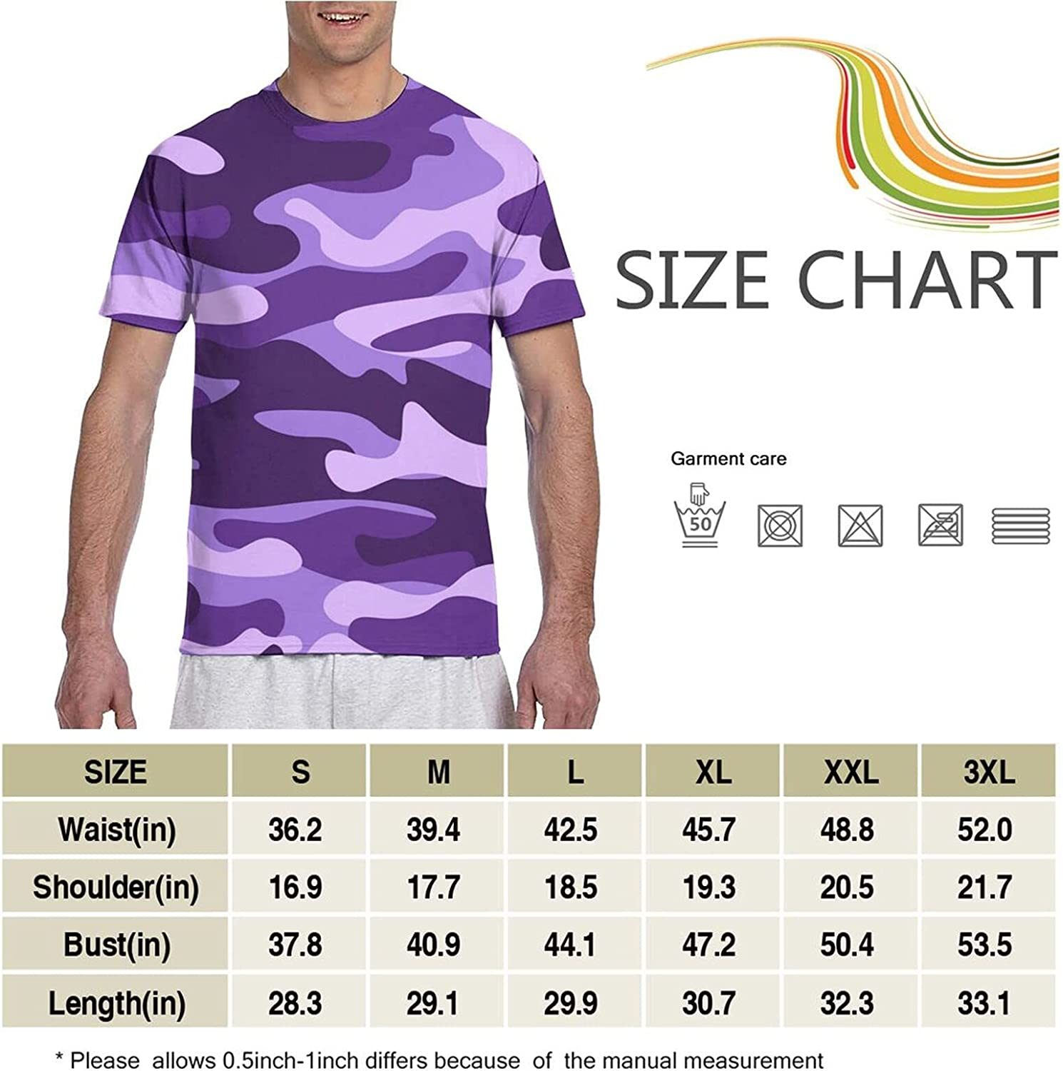 JHCD T-Shirts,3D Printed T-Shirt,Mens Tshirts, Suitable for Adult Men Shirt Short Sleeve Casual Blouse