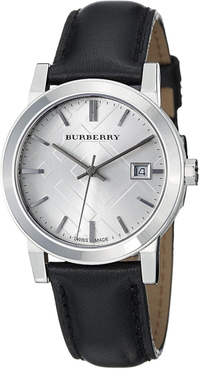 BURBERRY BU9106 - Reloj para Mujeres, Correa de Cuero Color Negro