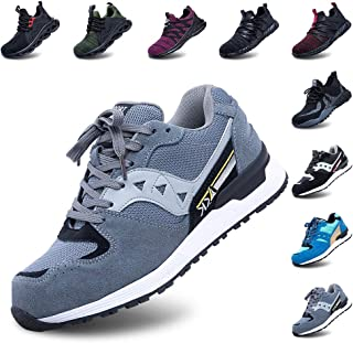 Safety Shoes Men Steel Toe Cap Women Work Trainers Comfortable Lightweight Breathable Puncture Proof Protective Footwear S...