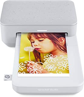 HP Sprocket Studio Photo Printer – Personalize & Print, Water-Resistant 4x6