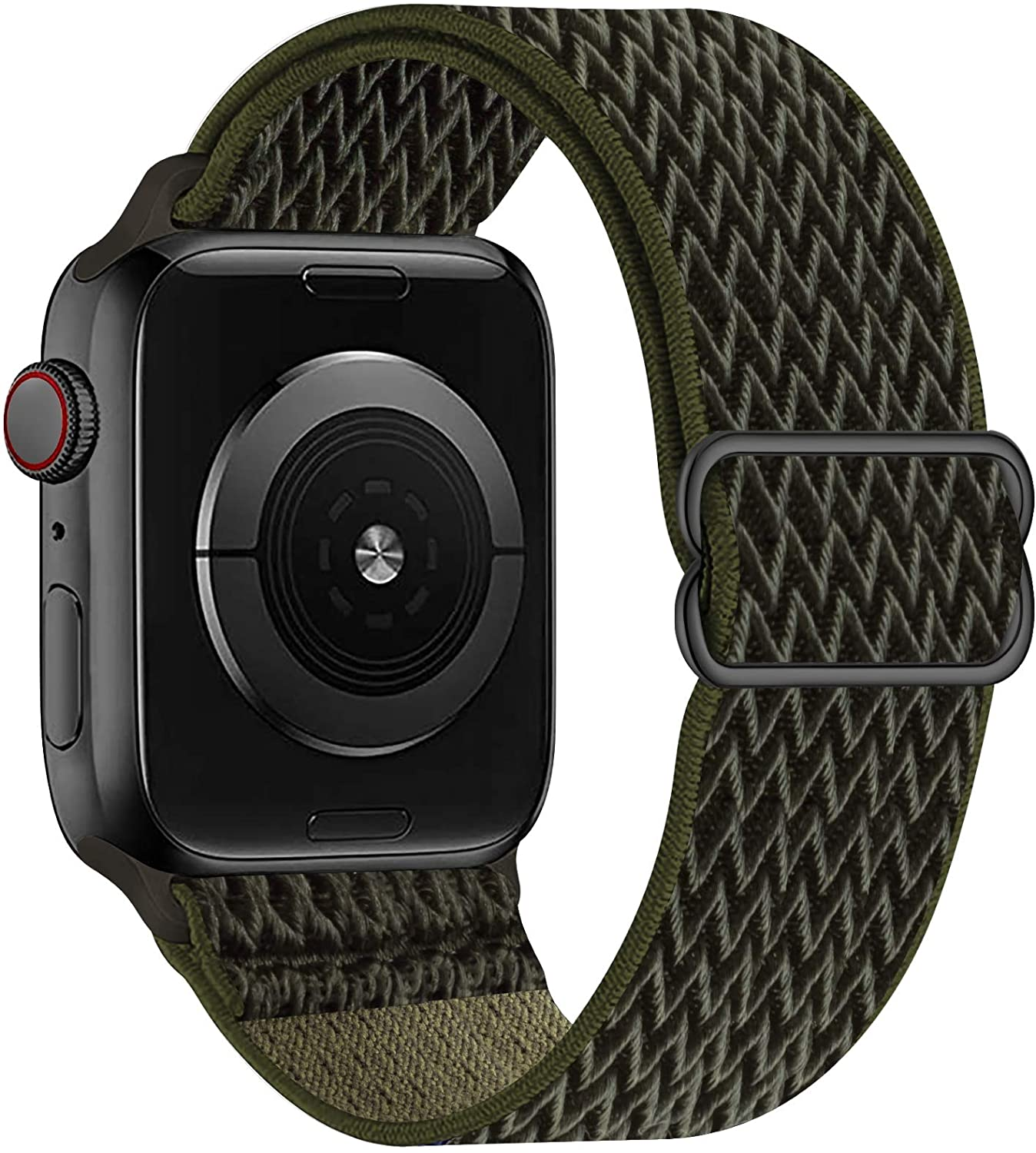 OHCBOOGIE Stretchy Solo Loop Strap Compatible with Apple Watch Bands 42mm 44mm ,Adjustable Stretch Braided Elastics Weave Nylon Women Men Wristband Compatible with iWatch Series 6/5/4/3/2/1 SE