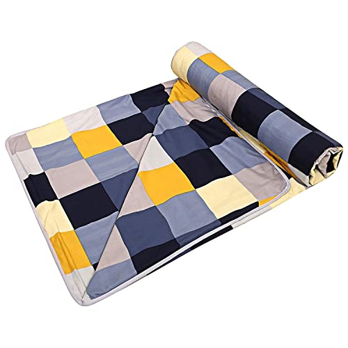 SHOPPOKING Click Poly Cotton Microfiber Double Bed AC Quilt/Dohar/Blanket (Multicolour)