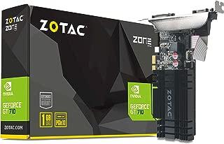 ZOTAC GeForce GT 710 2GB DDR3 PCI-E2.0 DL-DVI VGA HDMI 被动式凹槽单插槽显卡,ZT-71302-20LZT-71304-20L  PCI Express x1 1GB DDR3