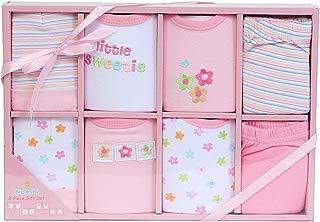 Big Oshi Baby 8-Piece Layette Gift Set, Pink, 0-6 Months