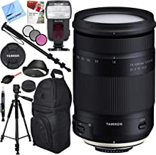 Tamron AFB028N-700 18-400mm f/3.5-6.3 Di II VC HLD All-in-One Zoom Lens for Nikon Mount Bundle with Automatic Flash, 72-Inch Monopod, 72mm Filter Kit, Backpack, Paintshop Pro and 60 inch Tripod