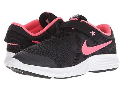 Nike Kids FlyEase Revolution 4 Wide (Big Kid) (Black/Racer Pink/White) Girls Shoes