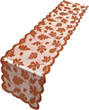 ibohr Thanksgiving Table Runner with Maple Leaves Lace Festival Table Runner Thanksgiving Table Decorations for Parties & ...