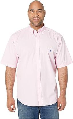 Big & Tall Short Sleeve Garment Dyed Chino Woven